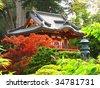 japanese pagoda - stock photo