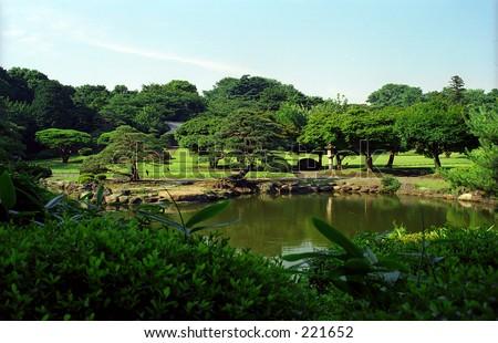 Japanese Park - stock photo