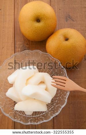 japanese pears - stock photo