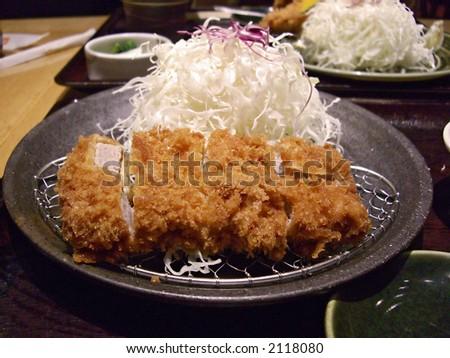 Japanese pork cutlet (Katsu) - stock photo