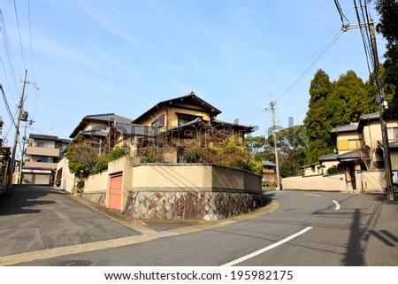 Japanese residential house - stock photo