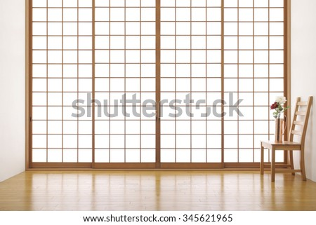 japanese room - stock photo