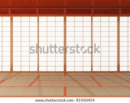 Japanese room - stock photo