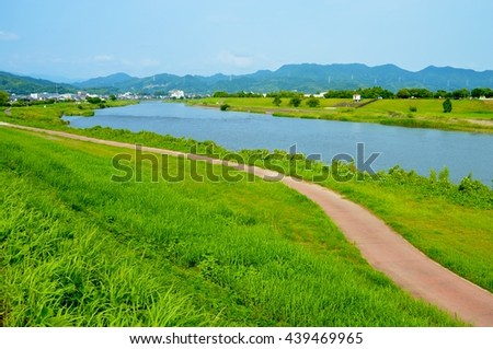 Japanese scenery/Path of the riverside