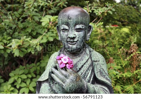 Japanese sculpture, face of Buddhist