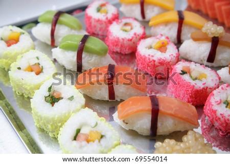 japanese shusi food - stock photo