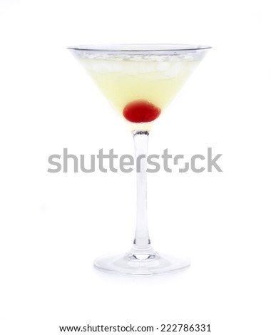 japanese slipper called a cocktail, cocktail of Japanese origin - stock photo