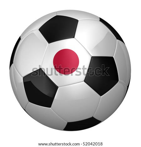 Japanese Soccer Ball isolated over white background