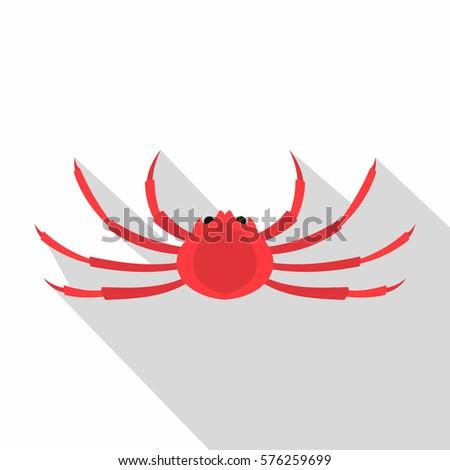 japanese spider crab icon flat illustration of japanese spider crab icon for web isolated on
