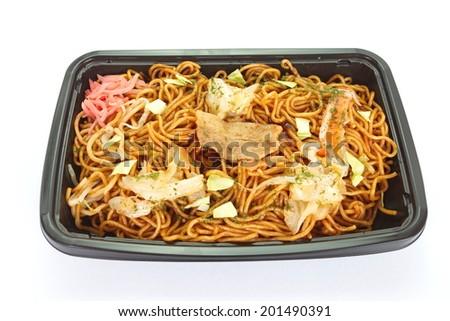 Japanese stir fried noodle yakisoba - stock photo