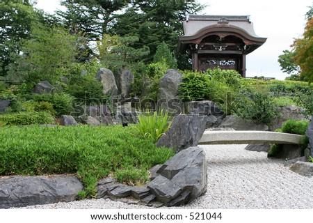 Japanese Style Garden, At Kew Gardens, London, UK