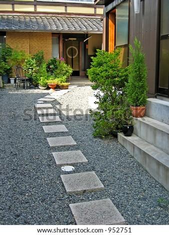 Japanese Style Housing - stock photo