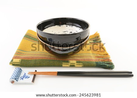 Japanese style tableware - stock photo