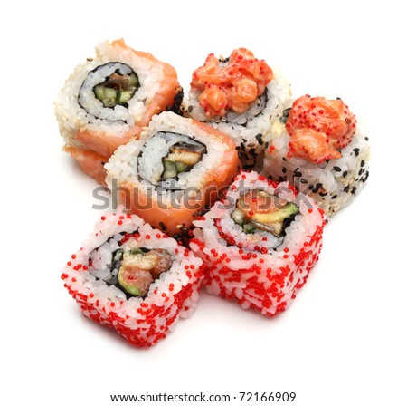 japanese sushi - stock photo