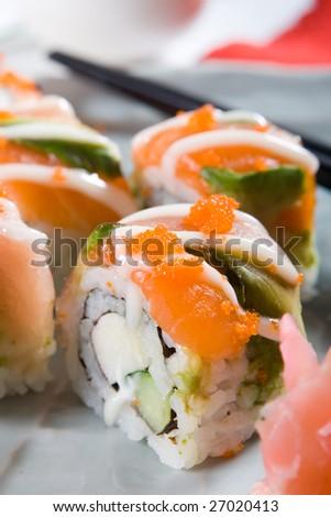japanese sushi food - stock photo