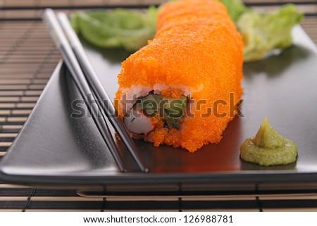 japanese sushi roll - stock photo