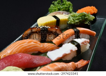 Japanese sushi set - japanese food style