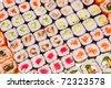 Japanese sushi , traditional japanese food - stock photo