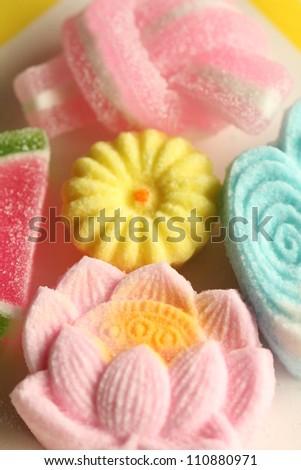 Japanese sweets - stock photo