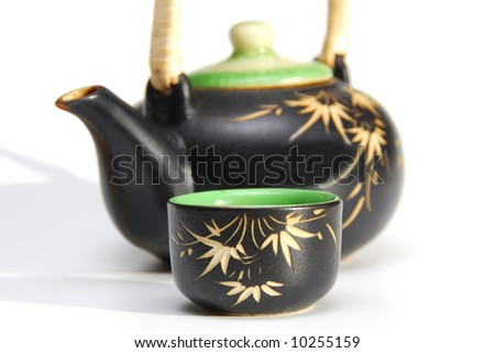japanese tea set - stock photo