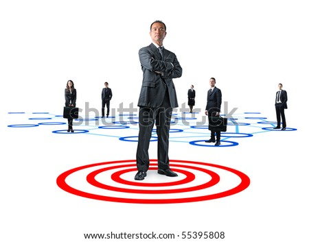 japanese team manager and business people - stock photo