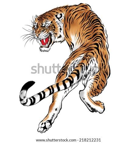 Japanese tiger - stock photo