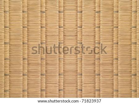 Japanese traditional floor, tatami's texture - stock photo