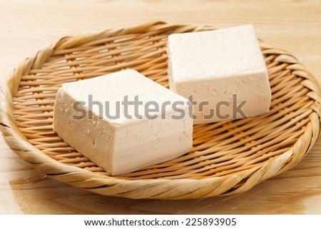 Japanese traditional foods TOUFU  - stock photo
