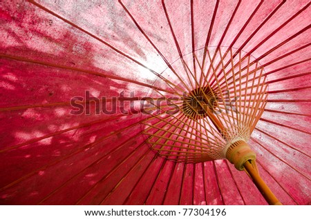 japanese traditional red umbrella - stock photo