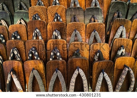 japanese traditional shoes - stock photo