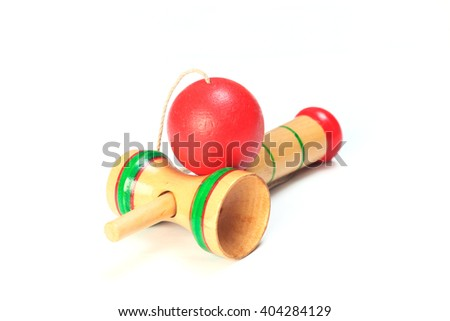 Japanese traditional toy -kendama  - stock photo