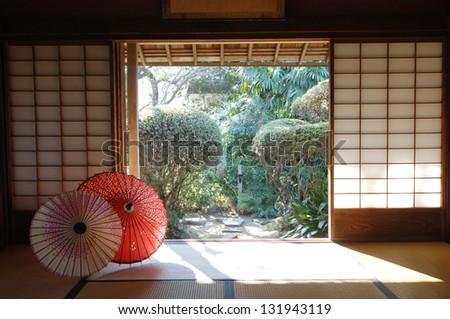 Japanese traditonal residence - stock photo
