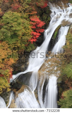 Japanese waterfall - stock photo