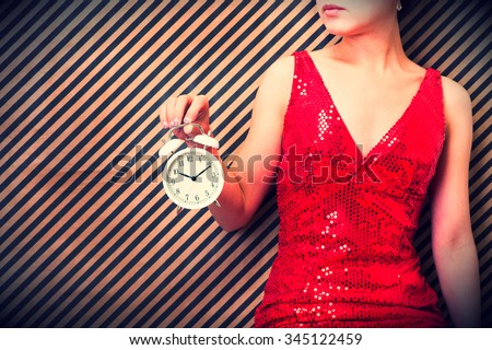 Japanese women have a watch - stock photo