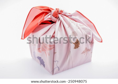 japanese wrapping cloth - stock photo