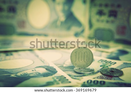 japanese yen, the currency notes from japan - stock photo