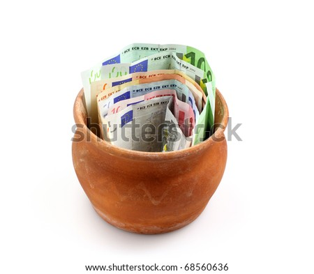 Jar full of money - stock photo