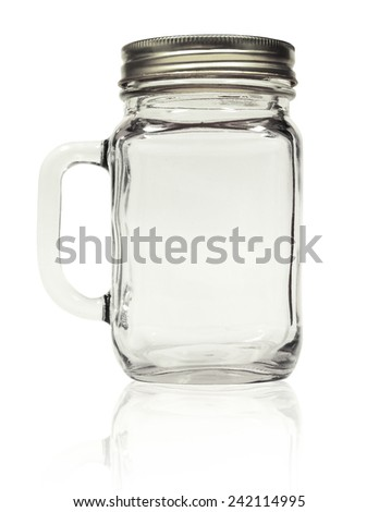 Jar mug is ready for your design. The file includes a clipping path so it is easy to work with.  - stock photo