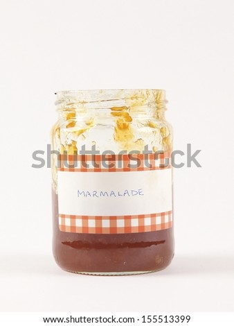 Jar of home cooked marmalade - stock photo