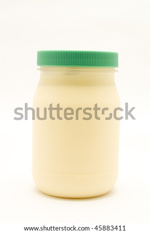 jar of mayonnaise - stock photo