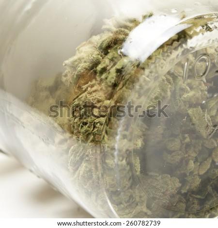 Jar of Weed, Marijuana  - stock photo