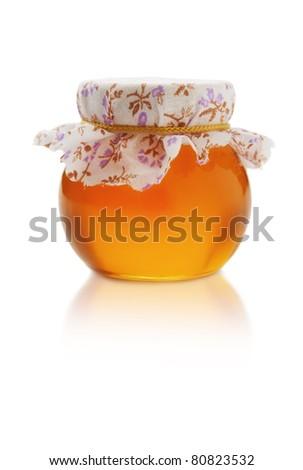 Jar with honey - stock photo