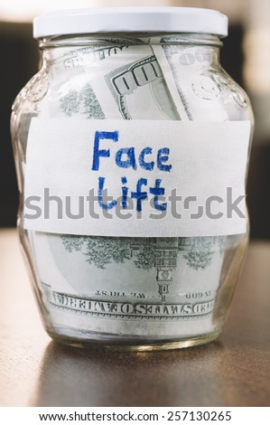 jar with money - stock photo