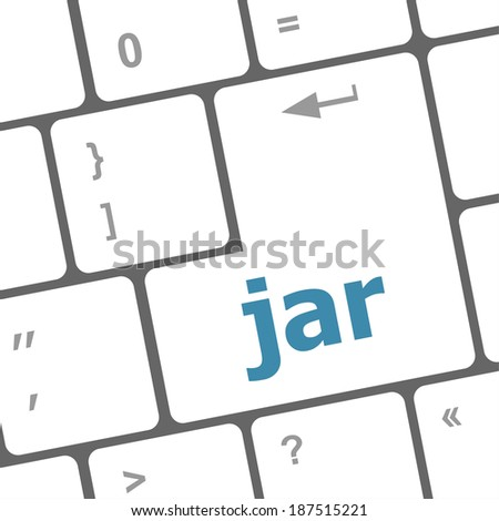 jar word on computer keyboard pc key