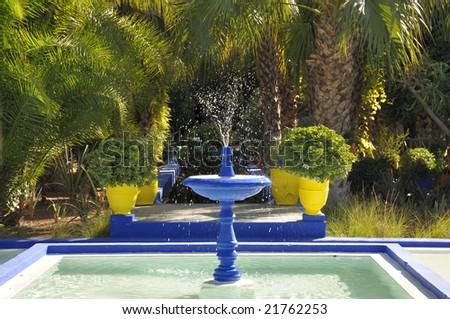 Jardin Majorelle, Marrakech, Morocco - stock photo