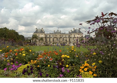 jardins du luxembourg, in Paris - stock photo