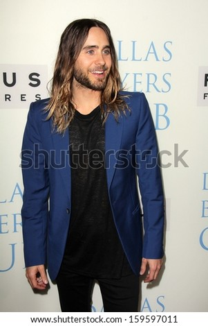 "Jared Leto at the ""Dallas Buyers Club"" Los Angeles Premiere, Academy of Motion Picture Arts and Sciences, Beverly Hills, CA 10-17-13 - stock photo"