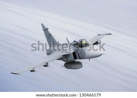 JAS39 Gripen - stock photo
