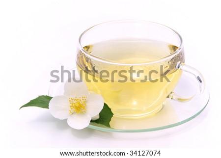 Jasmine tea - stock photo