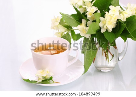 Jasmine tea and flowers